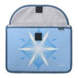 """Forma azul del diamante en Macbook favorable 13"""" m Funda Macbook Pro"""