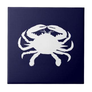 Forma azul y blanca del cangrejo teja cerámica