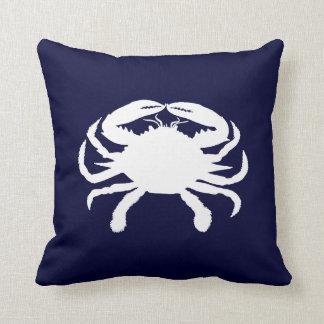 Forma azul y blanca del cangrejo cojín