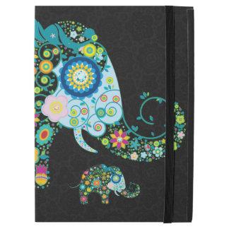 Forma colorida del elefante de las flores