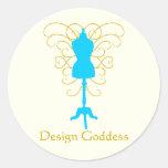 Forma con remolinos - diosa del vestido del diseño etiqueta