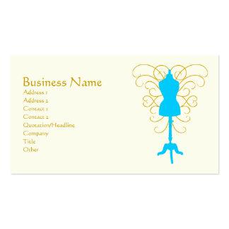 Forma con remolinos - diosa del vestido del diseño tarjetas de visita