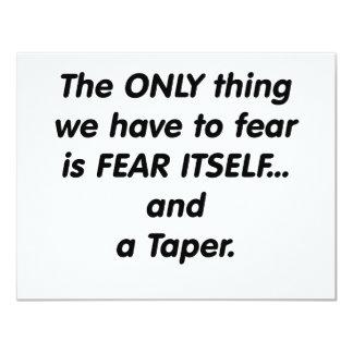 forma cónica del miedo invitación personalizada
