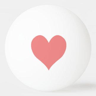 Forma coralina ligera del corazón pelota de ping pong