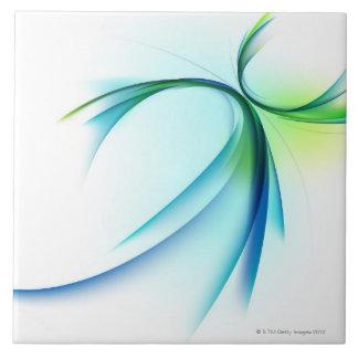 Forma curvada en el fondo blanco azulejos