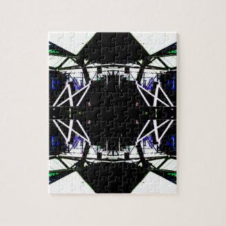 Forma de arte urbana estructural negra Cricketdian Rompecabezas Con Fotos