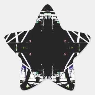 Forma de arte urbana estructural negra pegatina en forma de estrella