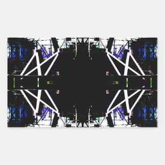 Forma de arte urbana estructural negra pegatina rectangular
