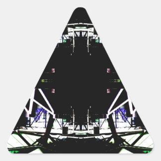 Forma de arte urbana estructural negra pegatina triangular