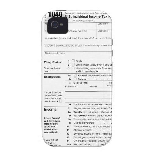Forma de impuesto 1040 Case-Mate iPhone 4 carcasa