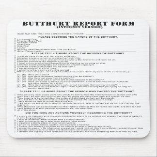 Forma de informe de Butthurt del Internet Mousepad