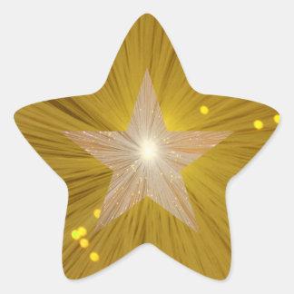 Forma de la estrella del pegatina de la estrella