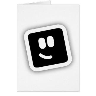 Forma de la forma tarjeta de felicitación