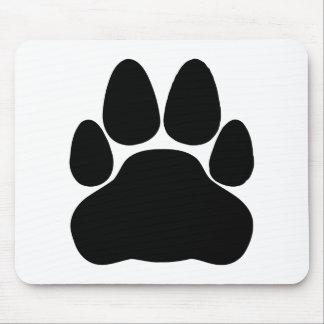 Forma de la impresión de la pata del gato negro mouse pad