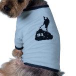 Forma de la isla del BI del Block Island Camisa De Perrito