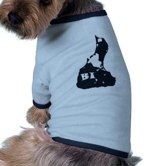 Forma de la isla del BI del Block Island Camiseta Con Mangas Para Perro