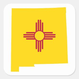 Forma de New México Pegatina Cuadrada