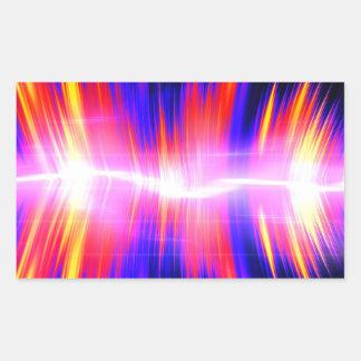 Forma de onda audio abstracta de Mullticolored Pegatina Rectangular