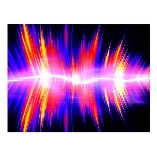 Forma de onda audio abstracta de Mullticolored Tarjetas Postales