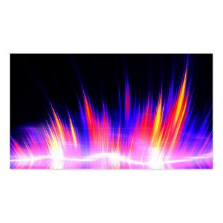 Forma de onda audio abstracta de Mullticolored Tarjetas De Visita