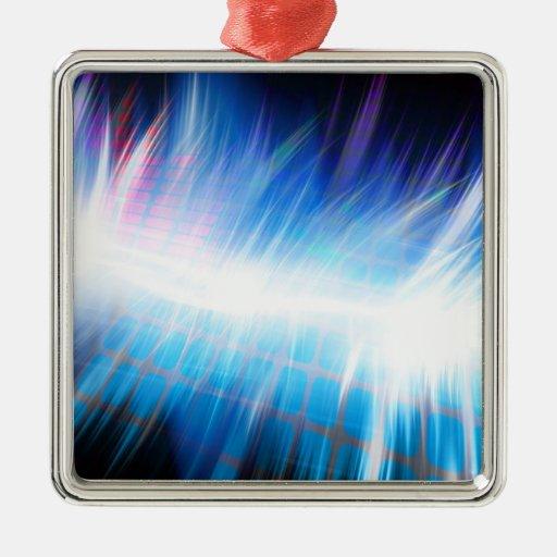 Forma de onda audio que brilla intensamente ornamento para reyes magos