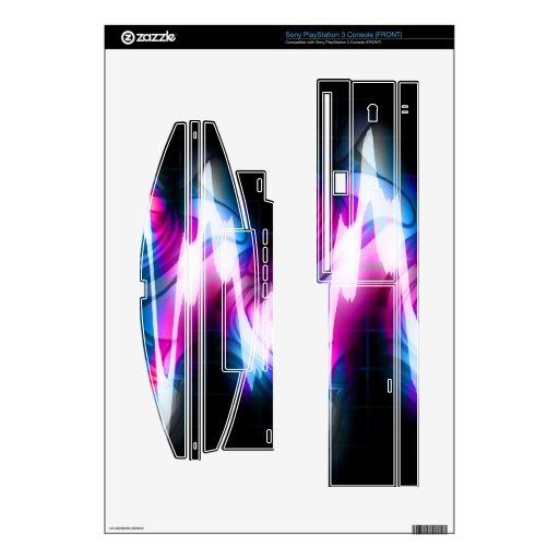 Forma de onda enrrollada del audio del gráfico EQ PS3 Skins