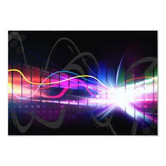 """Forma de onda musical del arco iris invitación 3.5"""" x 5"""""""