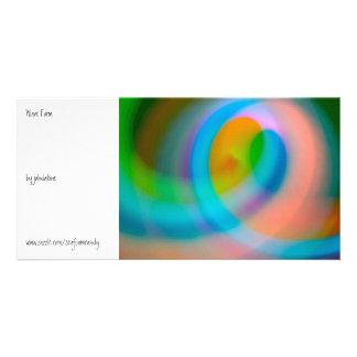 Forma de onda tarjetas fotográficas personalizadas