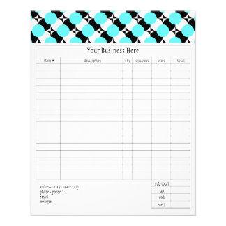 Forma de pequeña orden enrrollada de los puntos de tarjetas informativas