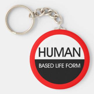 Forma de vida basada humana llavero redondo tipo pin