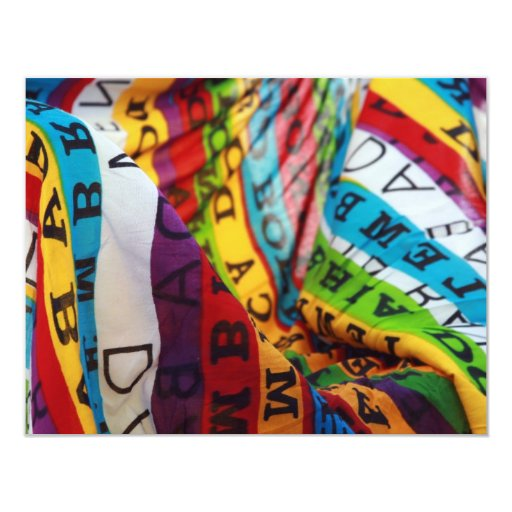 """forma de vida coloreada brasilen@o invitación 4.25"""" x 5.5"""""""