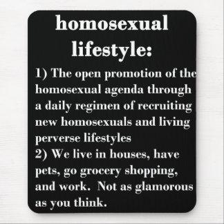 Forma de vida homosexual alfombrillas de raton
