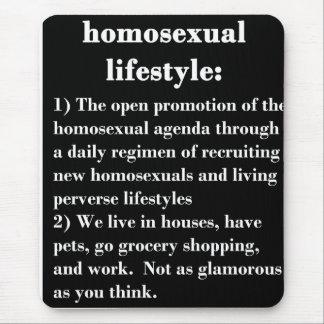Forma de vida homosexual alfombrillas de ratones