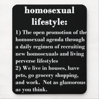 Forma de vida homosexual mousepads