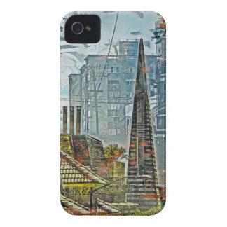 Forma de vida San Francisco céntrico de Case-Mate iPhone 4 Fundas