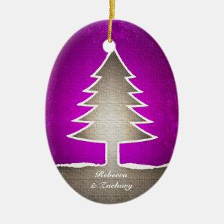 Forma del árbol de navidad - ornamento oval ornaments para arbol de navidad