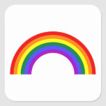 Forma del arco iris pegatina cuadrada