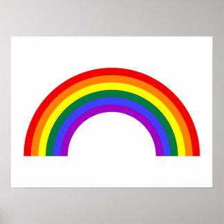 Forma del arco iris póster