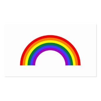 Forma del arco iris tarjetas de visita