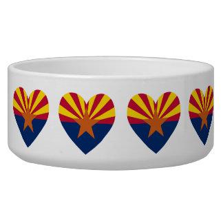 Forma del corazón de la bandera de Arizona Tazon Para Perro