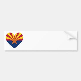 Forma del corazón de la bandera de Arizona Pegatina Para Auto