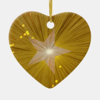 Forma del corazón del ornamento de la estrella del adorno de navidad