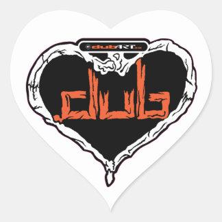 Forma del corazón del pegatina de LoveDubArt