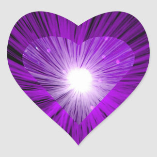 Forma del corazón del pegatina de Purple Heart