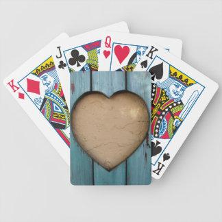 Forma del corazón del recorte artística cartas de juego