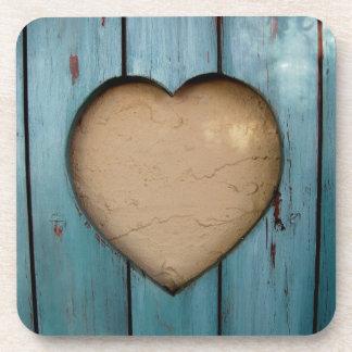 Forma del corazón del recorte artística posavasos