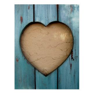 Forma del corazón del recorte artística postal