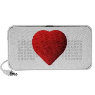 Forma del corazón mp3 altavoz
