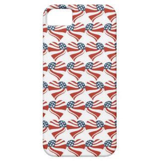 Forma del corazón y el modelo de la bandera americ iPhone 5 Case-Mate carcasa
