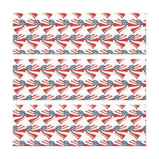 Forma del corazón y el modelo de la bandera americ impresiones en lona estiradas